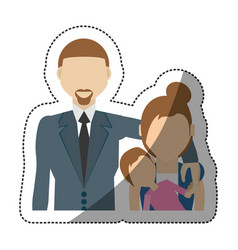 People family together image vector