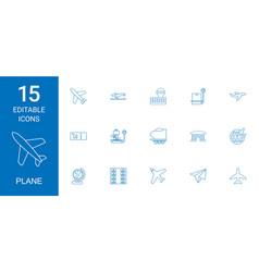 Plane icons vector