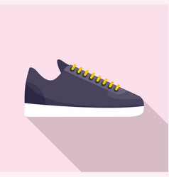 Rap sneakers icon flat style vector
