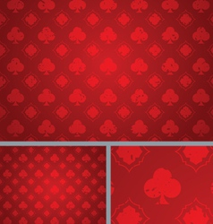 Red vintage clubs distressed seamless background vector
