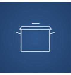 Saucepan line icon vector image