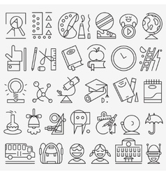 School education - icons set vector image vector image