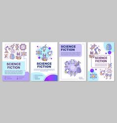 science fiction book brochure template sci fi vector image