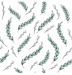 seamless abstract summer aquamarine leaves pattern vector image