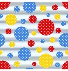 Seamless geometric pattern with colored circles vector image