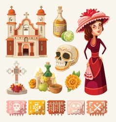 set items for day dead vector image