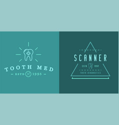 set of dental signs template stomatology graphic vector image