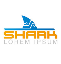 shark logo template creative symbol vector image