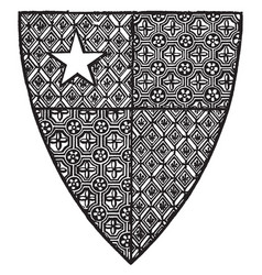 Shield of robert de vere are close advisor of vector