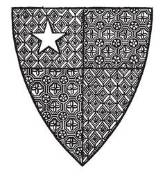 shield robert de vere are close advisor of vector image