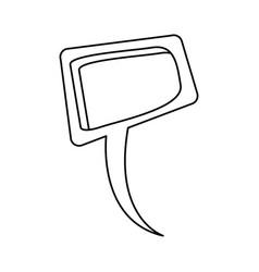 Silhouette relief square dialog box design vector