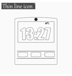 Simple of clock icon Style vector image