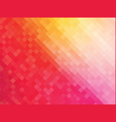 squares mosaic pink yellow background vector image