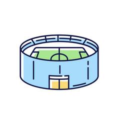 Stadium rgb color icon vector
