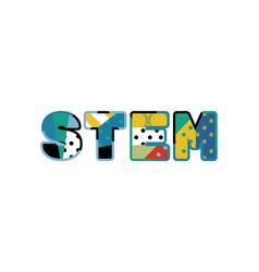 Stem concept word art vector