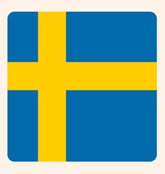 Sweden square flag button social media vector