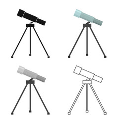Telescope icon cartoon single education icon from vector
