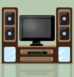 TV table vector image