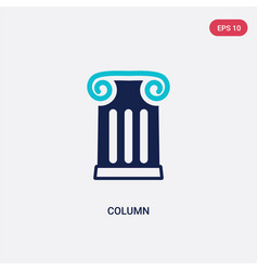 two color column icon from history concept vector image