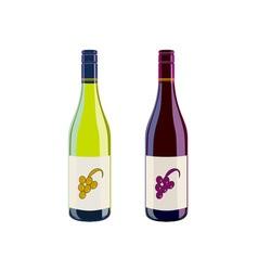 Wine Bottles Retro vector