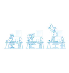 working process stages work or task vector image