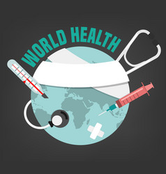 world health concept vector image