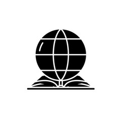 world law black icon sign on isolated vector image