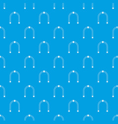 arch pattern seamless blue vector image