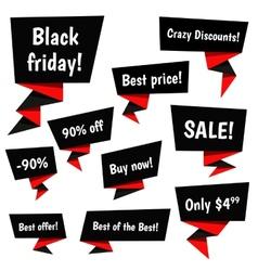 Black Friday Sale elements vector image vector image
