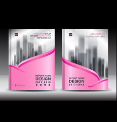 brochure template layout pink cover design flyer vector image vector image