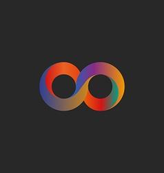 Infinity symbol geometric shape colorful mockup vector