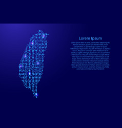 map taiwan from printed board chip and radio vector image vector image