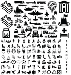 silhouette collection vector image vector image