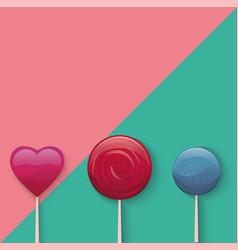 sweet lollypop vector image