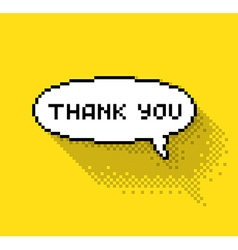 bubble with thank you vector image vector image