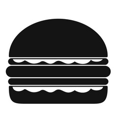 burger icon simple black style vector image
