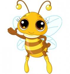 cute bee vector image vector image