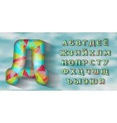 Cyrillic alphabet Polygonal geometry vector image vector image