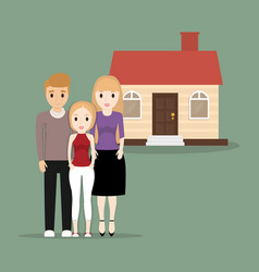 family people home image vector image