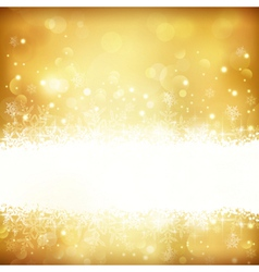 Golden glowing Christmas background vector image vector image