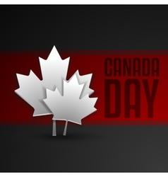 Happy canada day card in format vector