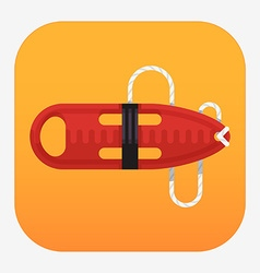 Red Torpedo Rescue Buoy Icon vector image
