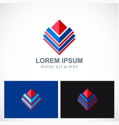 shape abstract geometry company logo vector image