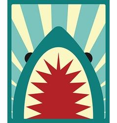 Shark poster vector image