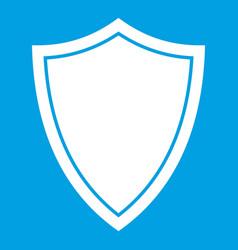 Shield for war icon white vector