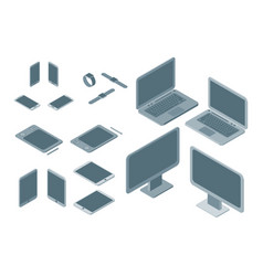 technology devices set isometric view vector image vector image