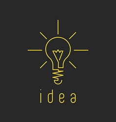 Lamp light mockup yellow business logo fresh vector image