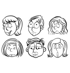 people with different facial expressions vector image
