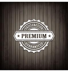 Premium Seal Wooden Background vector image vector image