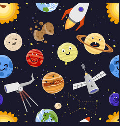space planets solar system astrology seamless vector image vector image